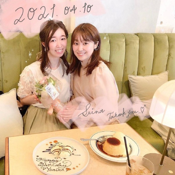 Photo shared by -,`s ᴇ ɪ ɴ ᴀ . '- on June 09, 2021 tagging @tana_yuri. May be an image of 2 people, flower and indoor.
