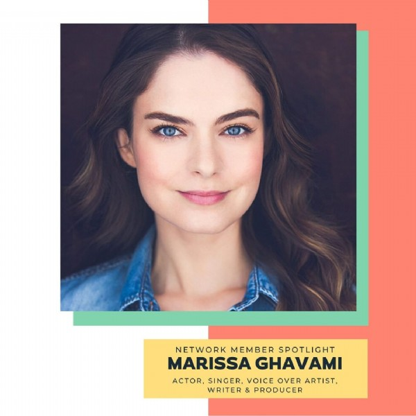 Photo by NYC Women Filmmakers on June 19, 2021. May be an image of 1 person and text that says 'NETWOR MEMBER SPOTLIGHT MARISSA GHAVAMI ACTOR, SINGER VOICE OVER ARTIST, WRITER PRODUCER'.