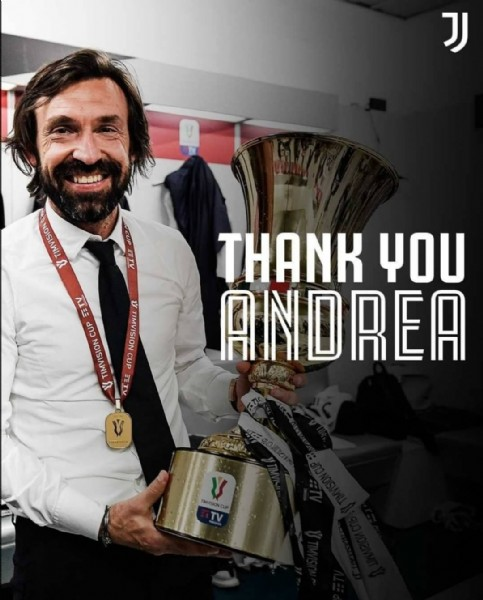 Photo shared by A&R Sports ⚽ on May 28, 2021 tagging @juventus, and @andreapirlo21. May be an image of 1 person, standing and text.
