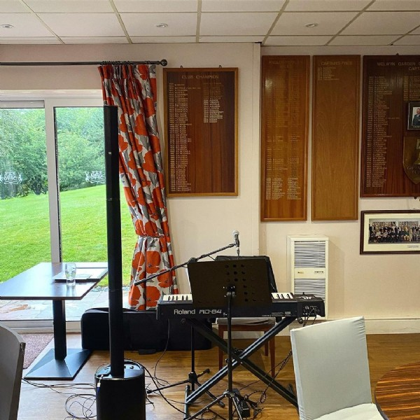 Photo by Zoë Singer Pianist in Welwyn Garden City Golf Club. May be an image of indoor.