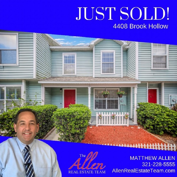 Photo by MATT ALLEN l Orlando REALTOR®️ in Winter Springs, Florida with @georgejborbely, @commercialreps, and @amyjoallen2. May be an image of 1 person and text that says 'JUST SOLD! 4408 Brook Hollow Allen The MATTHEW ALLEN 321-228-5555 REAL ESTATE TEAM AllenRealEstateTeam.com'.
