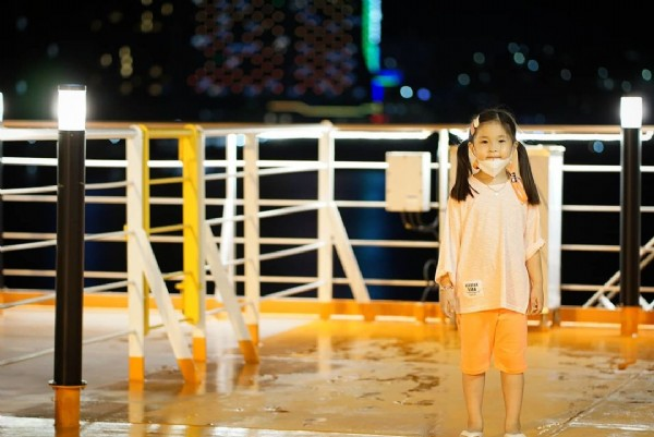 Photo by happy jimin house on July 31, 2021. May be an image of 1 person, child, standing and outdoors.