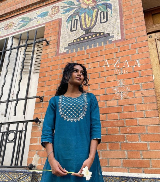 Photo by A Z A A in Paris, France with @mirdvika, and @azaa.paris. May be an image of 1 person, standing, outdoors and brick wall.