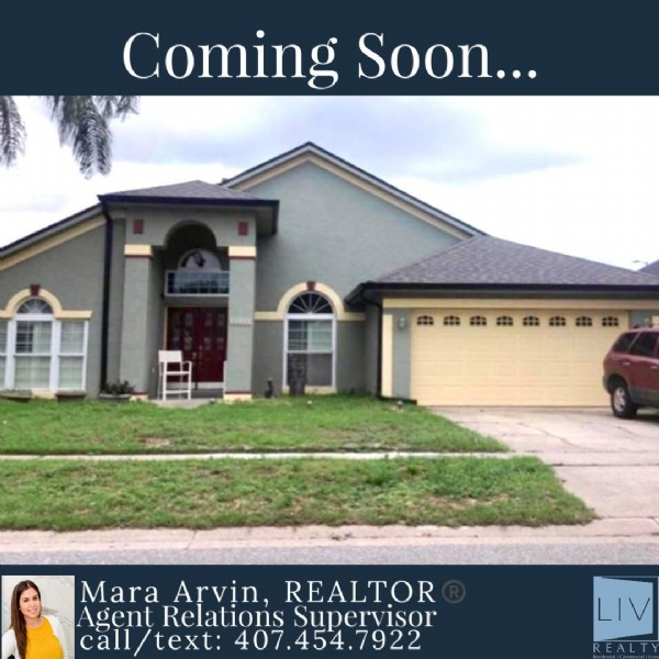 Photo by Mara Arvin, Realtor®️ on May 26, 2021. May be an image of 1 person, outdoors and text that says 'Coming Soon... Mara Arvin, REALTOR Agent Relations Supervisor call text: 407.454.7922 7922 LIV REALTY'.