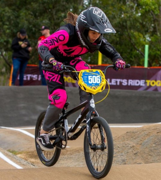 Photo shared by Ava Sparrow on June 08, 2021 tagging @dkbicycles.australasia, @bellbikeau, @cassonsaustraliabicycle, @onealracing_australia_nz, and @kids_behind_bars_2020. May be an image of 1 person, playing a sport, bicycle and outdoors.