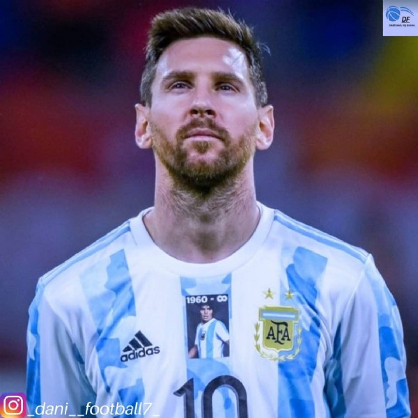Photo shared by a loyal football fan❤⚽(4.5k) on June 03, 2021 tagging @leomessi, and @afaseleccion. May be an image of 2 people.