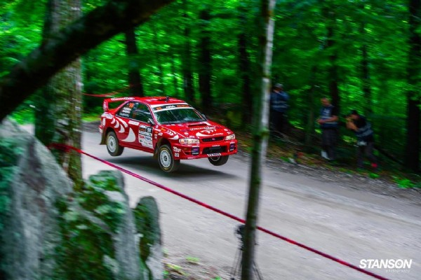 Photo by Ryan Stanson in New England Forest Rally with @bardharacing. May be an image of car and road.