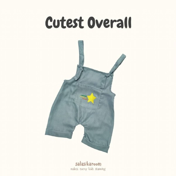 Photo by Baju Anak Kaos Anak Dress Anak on June 08, 2021. May be an image of text that says 'Cutest Overall salasikaroom makes every kids dt stunning'.