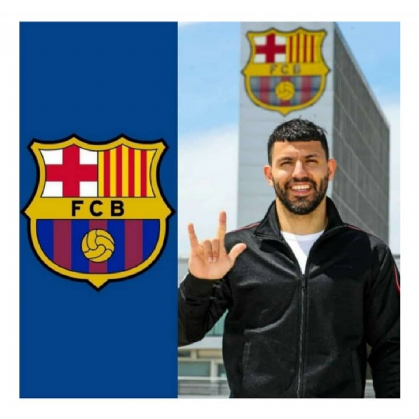 Photo by A&R Sports ⚽ in Camp Nou with @fcbarcelona, and @kunaguero. May be an image of 1 person and text that says 'FCB'.