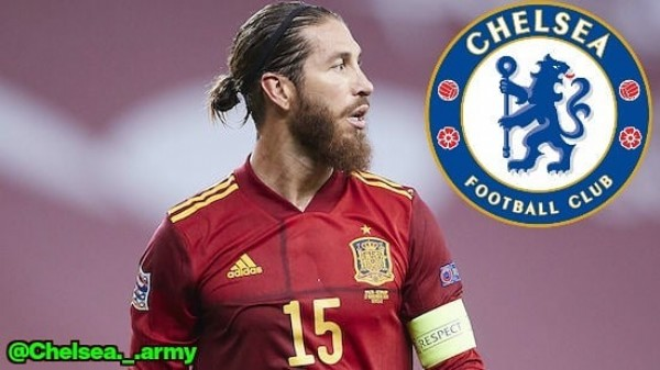 Photo by  ⚽️⚡ in Breaking News with @chelseafc, and @sergioramos. May be an image of 1 person and text.