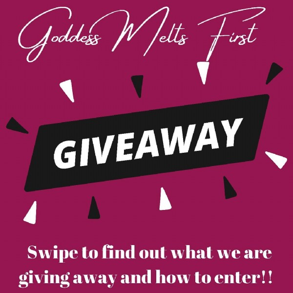 Photo by Goddess Melts on June 20, 2021. May be an image of text that says 'Goddads Jelts Tuat GIVEAWAY Swipe to find out what we are giving away and how to enter!!'.
