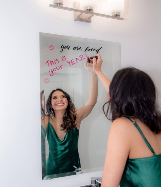 Photo shared by Orlando Photographer on June 16, 2021 tagging @lovewelltravellots, @marissareneeartistry, and @everafterbeaut. May be an image of 1 person, indoor and text that says 'you. are. loved This is YEAR your'.