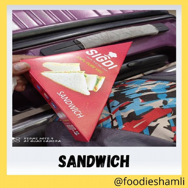 Photo by FoodieShamli in Ndls Railway Station. May be an image of sandwich and text.