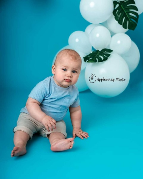 Photo by Appleberry Studio in Egerton, Greater Manchester. May be an image of 1 person, baby and balloon.