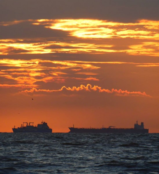 Photo by Marguarite on August 02, 2021. May be an image of twilight, ocean, sky and nature.