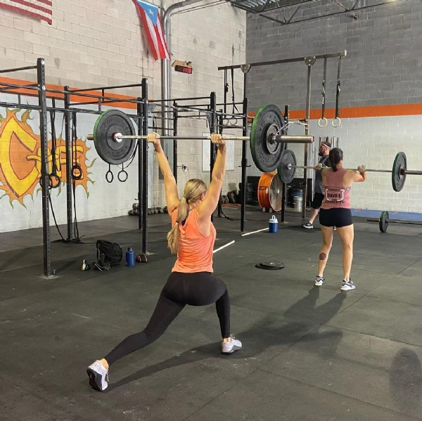 Photo by Virginia Beach Barbell Club on July 31, 2021. May be an image of one or more people.