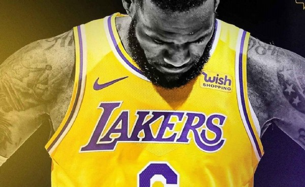 Photo shared by MATEALARO on June 14, 2021 tagging @lakers, and @kingjames. May be an image of basketball jersey, ball and text that says 'wish SHOPPING LAKERS'.