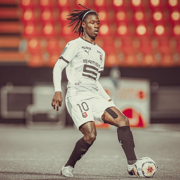 Photo shared by Stade Rennais F.C. on June 18, 2021 tagging @camavinga. May be an image of 1 person and playing a sport.
