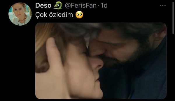 Photo by Deso  on May 16, 2021. May be an image of 1 person and text that says 'Deso @FerisFan 1d Çok özledim'.