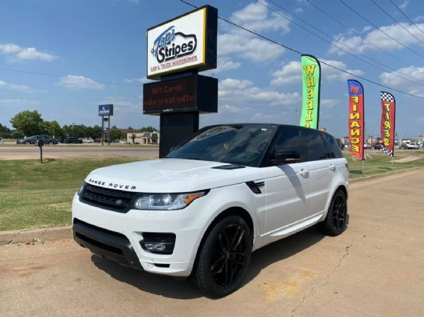 Photo by Tops & Stripes Inc. on July 31, 2021. May be an image of car, outdoors and text that says 'Stripes ACCESSORIES CAR FUCK W Î 3 и Pn 1 T 3 RANGE ROVER ×'.