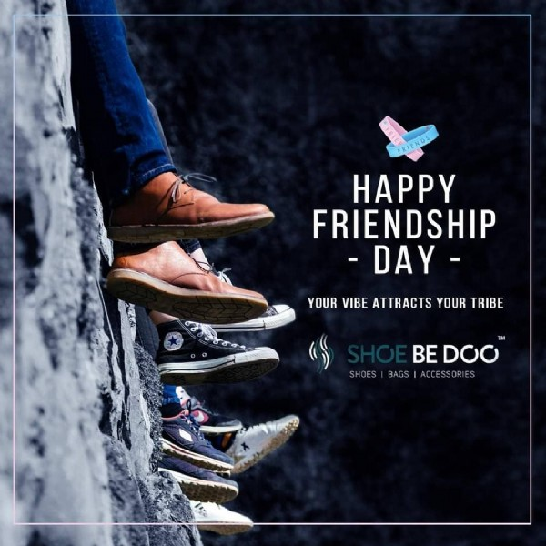 Photo by Shoe Be Doo Palakkad in Palakkad. May be an image of footwear and text that says 'HAPPY FRIENDSHIP -DAY- YOUR VIBE ATTRACTS YOUR TRIBE BED0O SHOES BAGS ACCESSORIES'.