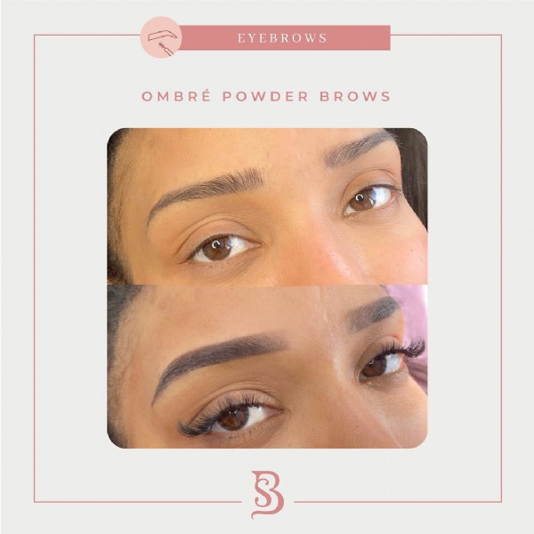 Photo by Miami PMU Artist & LashArtist on August 02, 2021. May be an image of 1 person and text that says 'EYEBROWS OMBRÉ POWDER BROWS 3'.