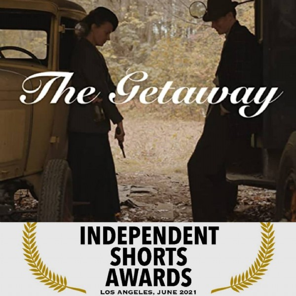 Photo by Erin Enberg in Los Angeles, California with @erikmoody, @bigbrowngoat, @release_the_brikabracken, and @independentshortsawards. May be an image of 1 person, standing and text that says 'The Getaway INDEPENDENT SHORTS AWARDS LOS ANGELES, JUNE 2021'.