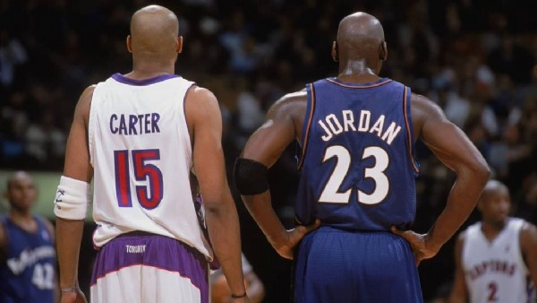 Photo by Vince Carter in NBA with @vincecarter15_official. May be an image of ball and text that says 'CARTER 15 JORDAN 23 TORONT'.