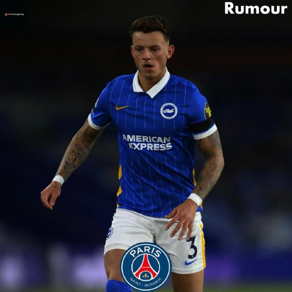 Photo by Football Hub on June 21, 2021. May be an image of 1 person and text that says 'Rumour AMERICAN EXPRESS PARIS R SAINT- ERMAIN'.