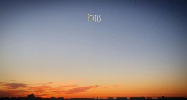 Photo by Johnny Bad on June 19, 2021. May be an image of twilight, cloud and text that says 'PIXELS'.