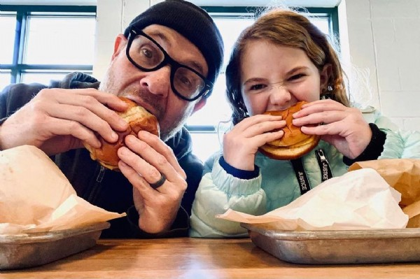 Photo by ACE No. 3 in ACE No. 3 Belmont Village. May be an image of 2 people, burger and indoor.
