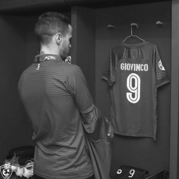 Photo by Bander Alhilal on July 28, 2021. May be a black-and-white image of one or more people, indoor and text that says 'GIOVINCO 9'.