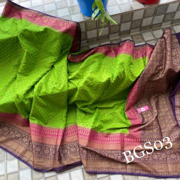Photo by designer sarees on July 28, 2021. May be an image of text that says 'BGS03'.