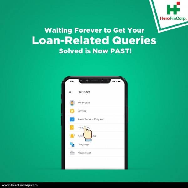 Photo by Hero FinCorp on July 11, 2020. May be an image of text that says 'H HeroFinCorp. HeroFinCorp. Waiting Forever to Get Your Loan-Related Queries Solved is Now PAST! Harinder Setting Request www.HeroFinCorp.com'.