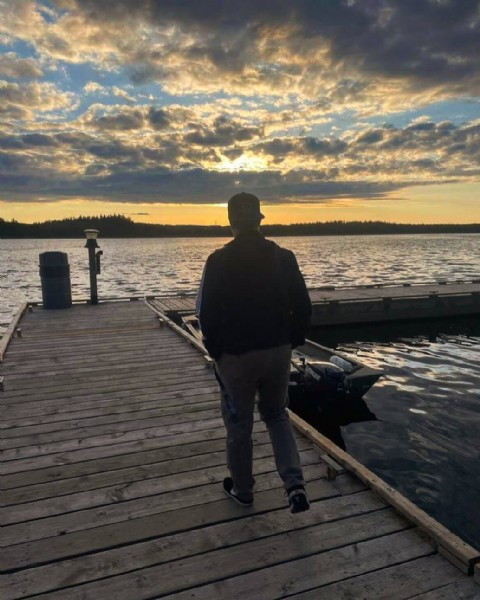 Photo by Brian on June 10, 2021. May be an image of one or more people, people standing, nature, sky and lake.