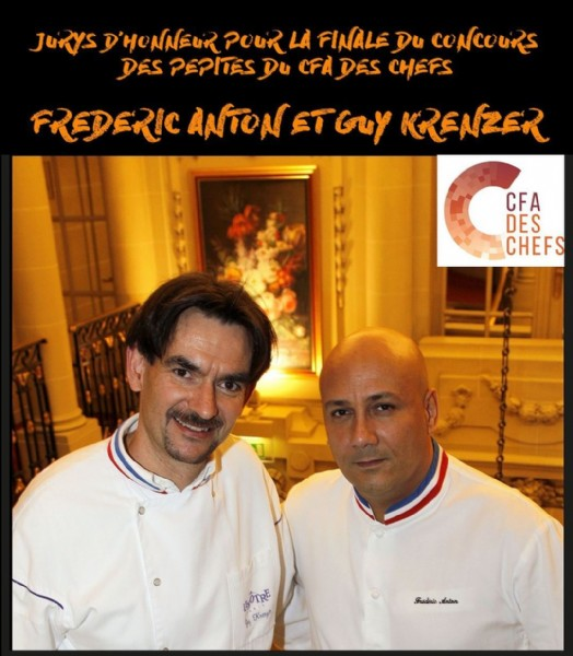 Photo by CFA des Chefs in Paris, France. May be an image of 2 people, indoor and text.
