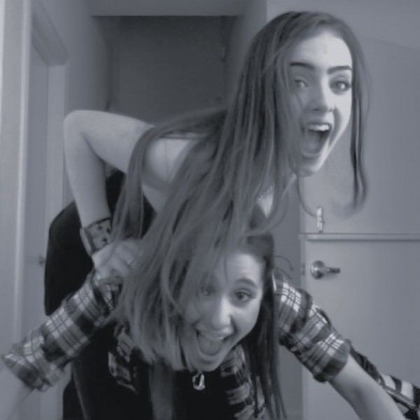 Photo shared by @arianastuckwithme on July 26, 2021 tagging @arianagrande, and @lizgillz. May be a black-and-white image of 2 people and indoor.