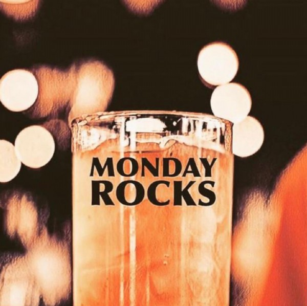 Photo by Frank's Bar  in Lincoln Park. May be an image of drink and text that says 'MONDAY ROCKS'.