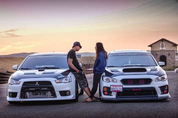 Photo shared by evo и sti on June 22, 2021 tagging @evox_jim, and @bianca_wrx. May be an image of 1 person, car and outdoors.