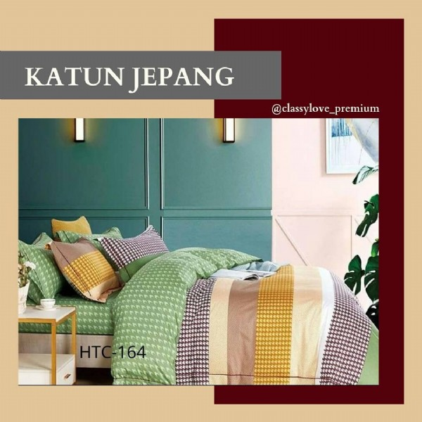 Photo by SPREI KATUN JEPANG & KINGKOIL on August 01, 2021. May be an image of furniture, bedroom and text that says 'KATUN JEPANG @classylove premium BAMA HT 164'.