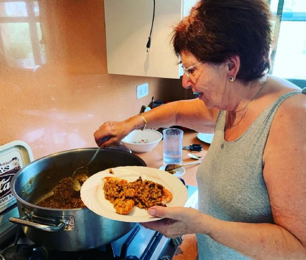 Photo by Yvo Wettstein on August 03, 2021. May be an image of 1 person, food and indoor.