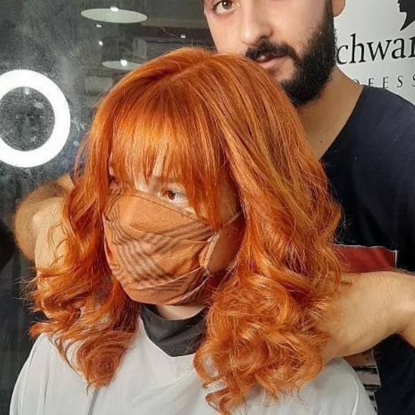Photo by Issa hair color on June 18, 2021. May be an image of 1 person, beard, standing and indoor.