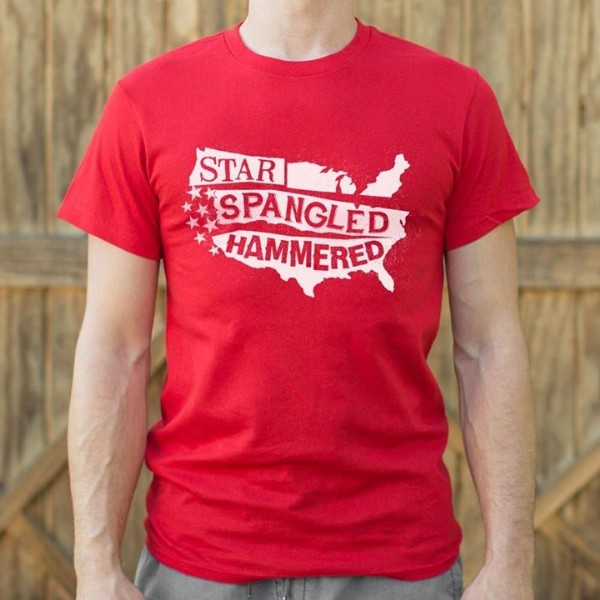 Photo by KEEP IT TEES SHOP on June 19, 2021. May be an image of text that says 'STAR SPANGLED HAMMERED'.