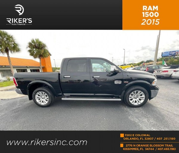 Photo by Riker's Auto Financial in Kissimmee; Orlando, Florida. May be an image of car, road and text that says 'RIKER'S Auto RAM 1500 2015 MENE www.rikersinc.com rikersinc. 7202ECOLONIAL 7202E COLONIAL ORLANDO, FL 32807 407 251.1180 2776 ORANGE OTL BLOSSOM KISSIMMEE,FL 34744 407.483.1180'.