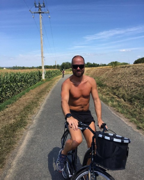 Photo by Alexander Eliassen on June 23, 2021. May be an image of 1 person, standing, bicycle and outdoors.