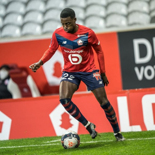 Photo shared by LOSC on March 01, 2021 tagging @timothyweah. May be an image of one or more people and people playing sports.