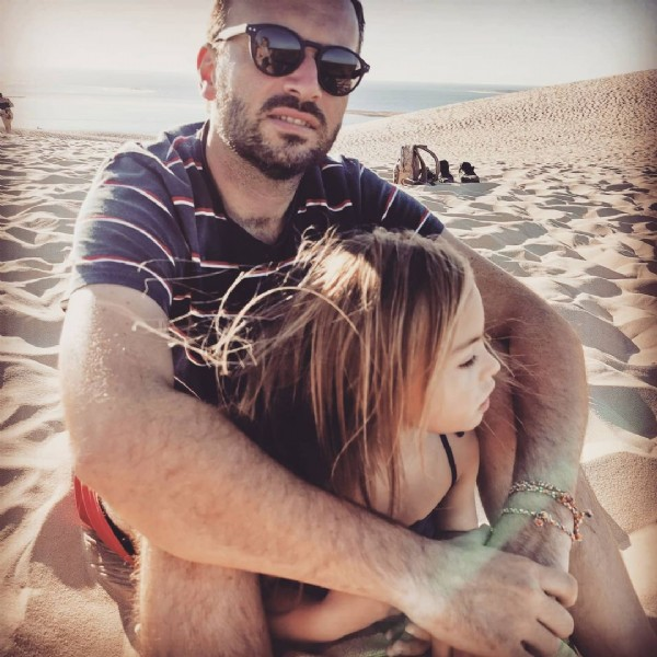 Photo by Raphie & Compagnie. Trisomie21 on July 29, 2021. May be an image of 2 people and beach.