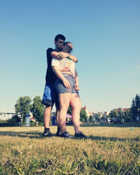 Photo shared by Martyna Jaremko on June 19, 2021 tagging @thesuchy. May be an image of 1 person, standing and grass.