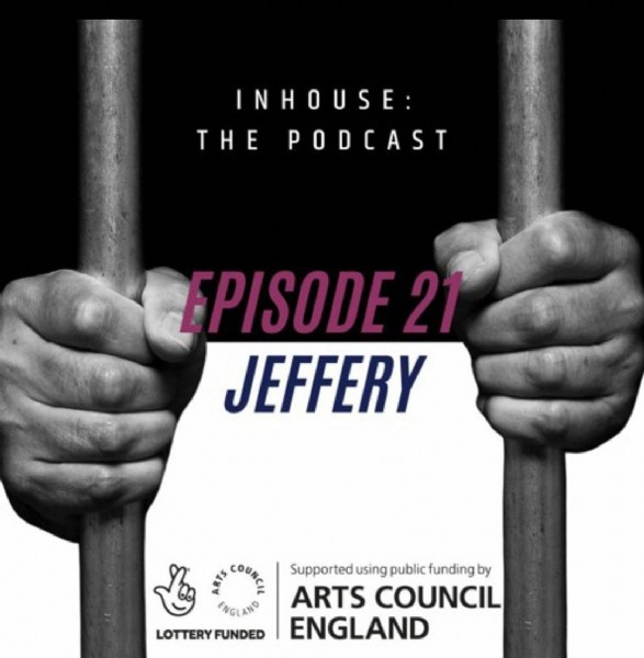 Photo by InHouse_ThePodcast on June 23, 2021. May be an image of one or more people and text that says 'INHOUSE: THE PODCAST EPISODE 21 JEFFERY COUN Supported using public funding by ARTS COUNCIL ENGLAND ENGEAND ÛOTTERUD'.