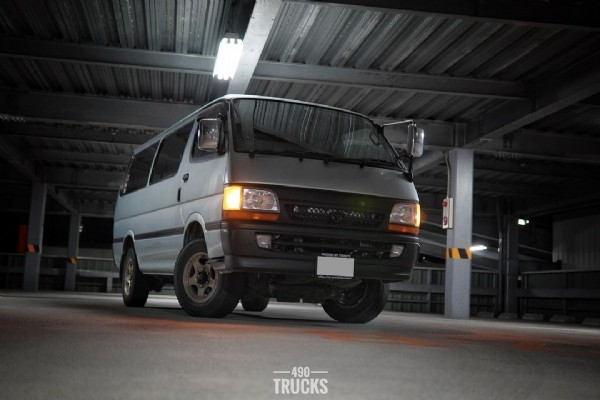 Photo by yoshi 490 trucks on June 18, 2021. May be an image of car and text that says '一 490 - TRUCKS'.